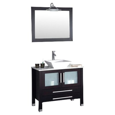 Juniper 35 Single Bathroom Vanity Set with Mirror