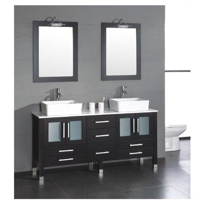 Grand Aspen 71 Double Bathroom Vanity Set with Mirror