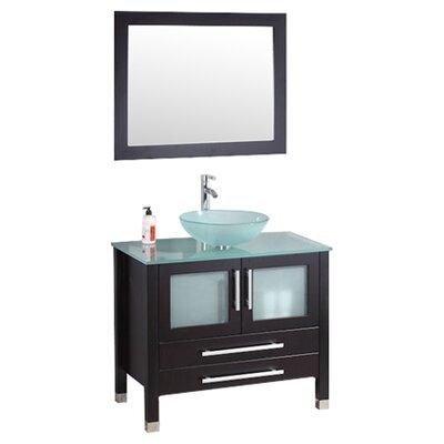 Amethyst 35 Single Bathroom Vanity Set with Mirror