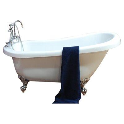 67 x 28 Clawfoot Soaking Bathtub Leg Finish: Polished Chrome, Faucet Mount: No