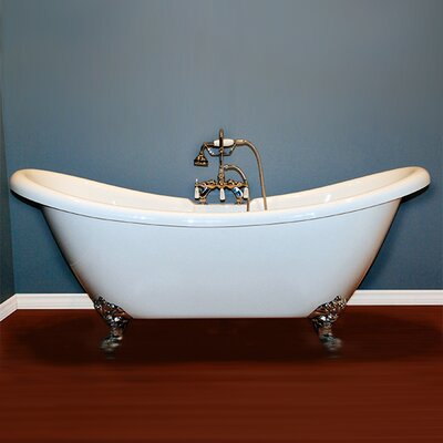 68.62 x 28.5 Claw Foot Slipper  Bathtub Faucet Mount: No, Leg Finish: Oil Rubbed Bronze