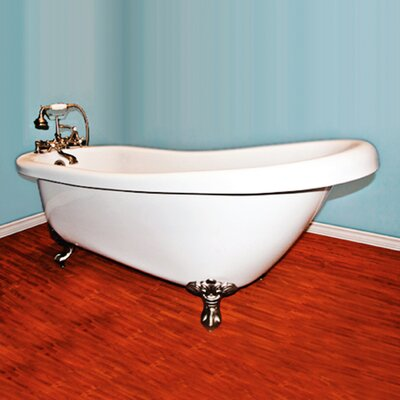 67 L x 28 W Freestanding Soaking Bathtub Leg Finish: Brushed Nickel, Faucet Mount: Yes