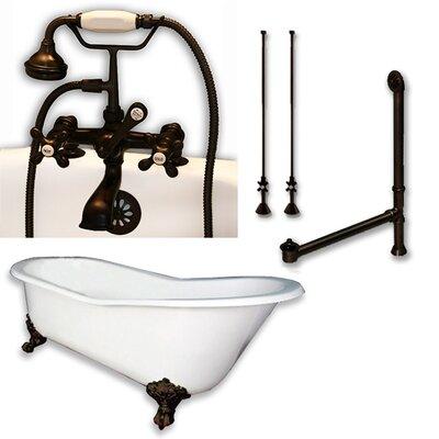 67 L x 30 W  Bathtub Finish: Oil Rubbed Bronze