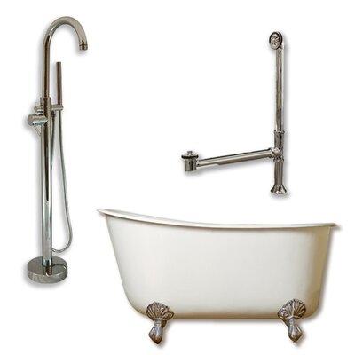 58 L x 29 W  Bathtub Finish: Brushed Nickel