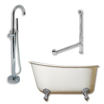 54 L x 29 W  Bathtub Finish: Polished Chrome