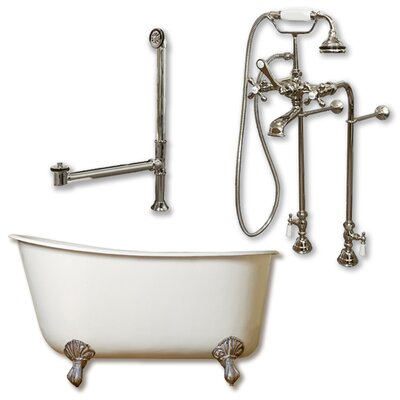 58 L x 29 W  Bathtub Finish: Brushed Nickel