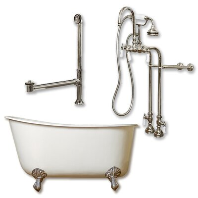 54 L x 29 W  Bathtub Finish: Brushed Nickel