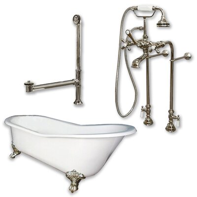 67 L x 30 W  Bathtub Finish: Brushed Nickel
