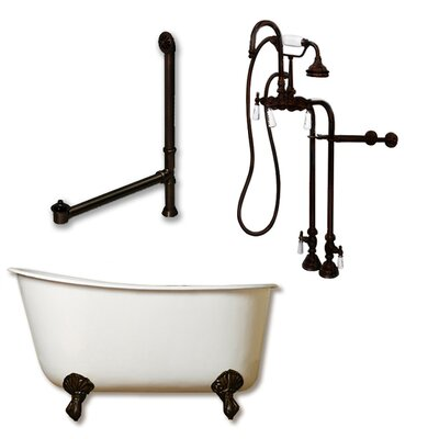 58 L x 29 W  Bathtub Finish: Oil Rubbed Bronze