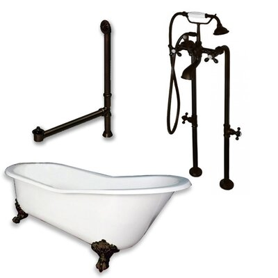 67 L x 30 W  Bathtub Finish: Oil Rubbed Bronze