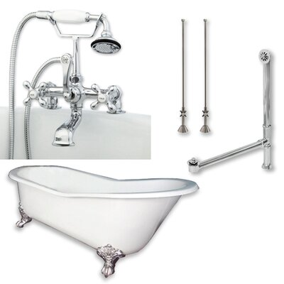 67 L x 30 W  Bathtub Finish: Polished Chrome