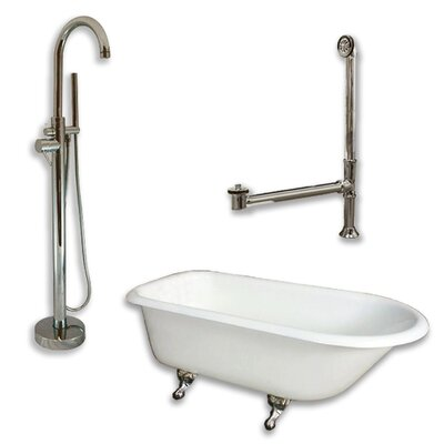 61 L x 30 W  Bathtub Finish: Brushed Nickel