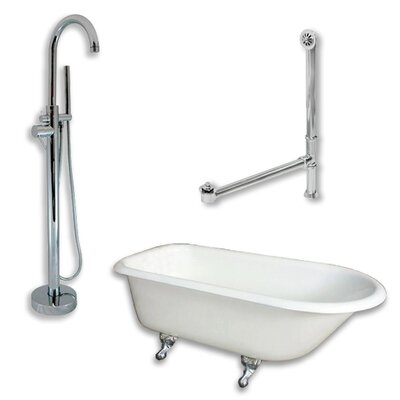 61 L x 30 W  Bathtub Finish: Polished Chrome