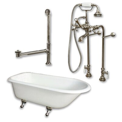 55 L x 30 W  Bathtub Finish: Brushed Nickel