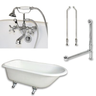 55 L x 30 W  Bathtub Finish: Polished Chrome