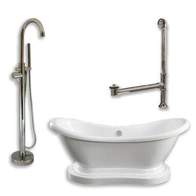 68 L x 29 W  Bathtub Finish: Brushed Nickel