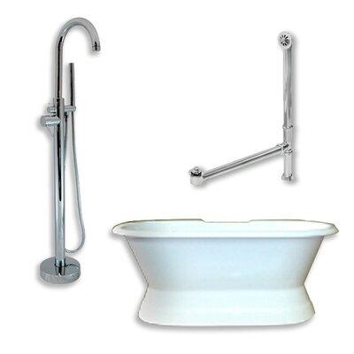 71 x 30 Freestanding Soaking Bathtub Color: Polished Chrome