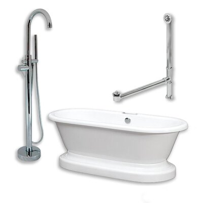 70 L x 30 W Bathtub Finish: Polished Chrome