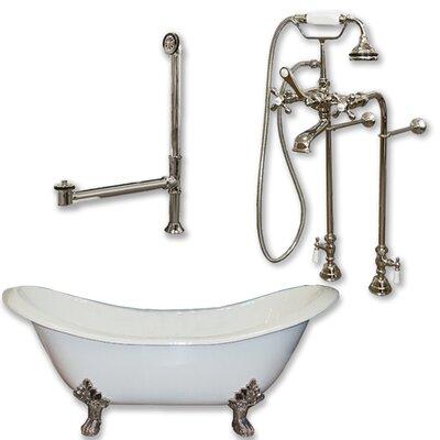 71 L x 30 W  Bathtub Finish: Brushed Nickel