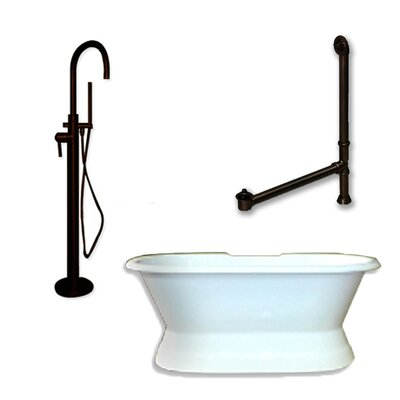 71 x 30 Freestanding Soaking Bathtub Color: Oil Rubbed Bronze