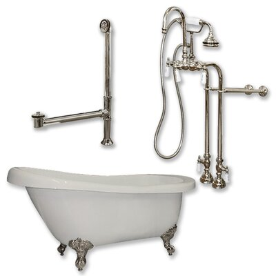 67 L x 31 W  Bathtub Finish: Brushed Nickel