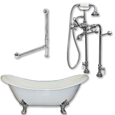 71 L x 30 W  Bathtub Finish: Polished Chrome