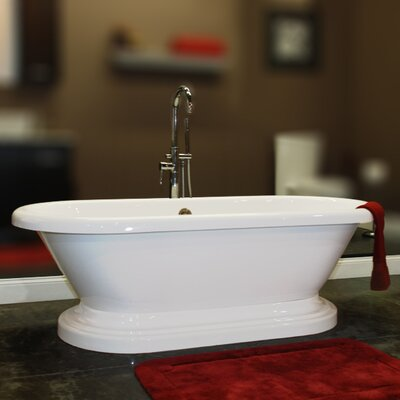 70 x 31 Double Ended Pedestal  Bathtub Faucet Mount: Yes