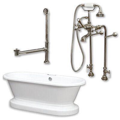 70 L x 30 W Bathtub Finish: Brushed Nickel