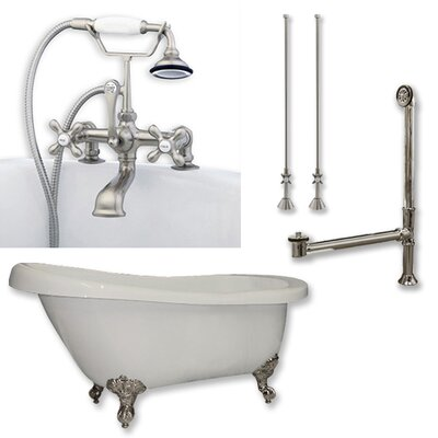 61 x 28 Bathtub Finish: Brushed Nickel