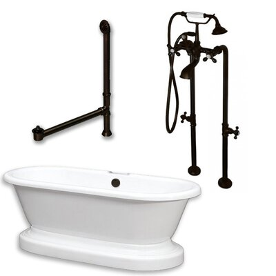 70 L x 30 W Bathtub Finish: Oil Rubbed Bronze