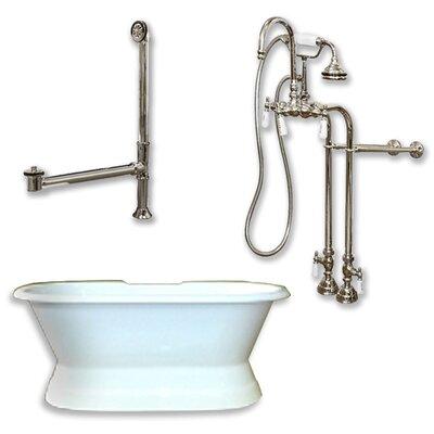 71 x 30 Freestanding Soaking Bathtub Color: Brushed Nickel