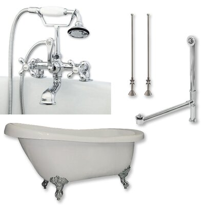 67 L x 28 W Freestanding Bathtub	 Finish: Polished Chrome