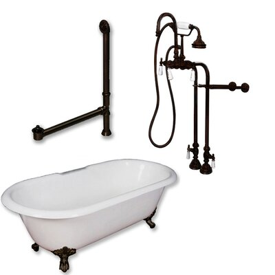 60 x 30 Freestanding Soaking Bathtub Color: Oil Rubbed Bronze