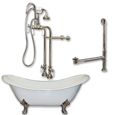 71 L x 30 W  Bathtub Finish: Brushed Nickel