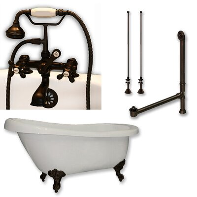 67 L x 28 W Freestanding Bathtub Finish: Oil Rubbed Bronze