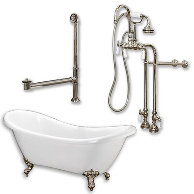 68 L x 28 W  Bathtub Finish: Brushed Nickel