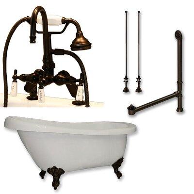 67 L x 31 W  Bathtub Finish: Oil Rubbed Bronze