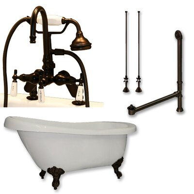 67 L x 28 W Freestanding Soaking Bathtub Finish: Oil Rubbed Bronze