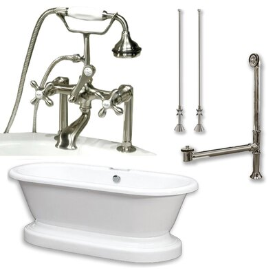 70  x 30 Freestanding Soaking Bathtub Color: Brushed Nickel