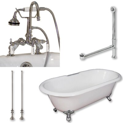 60 L x 30 W  Bathtub Finish: Polished Chrome