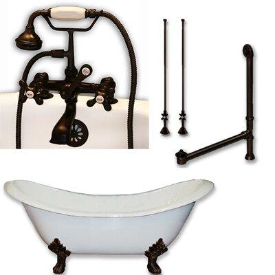 71 L x 30 W  Bathtub Finish: Oil Rubbed Bronze