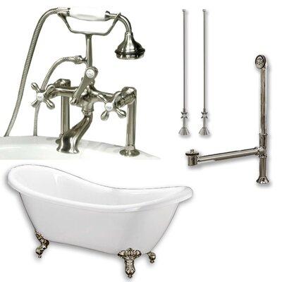 68 L x 28 W  Bathtub Finish: Brushed Nickel