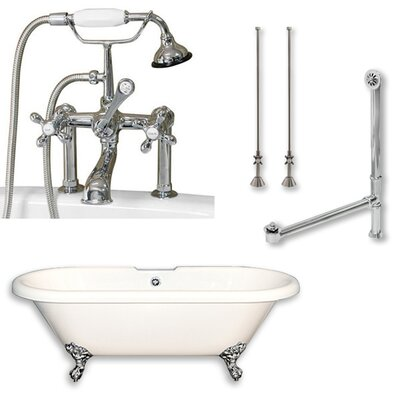70 x 30 Clawfoot Soaking Bathtub Color: Polished Chrome