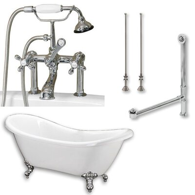 68 L x 28 W  Bathtub Finish: Polshed Chrome