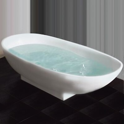 71 L x 34 W Pedestal Soaking Bathtub