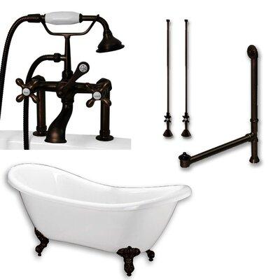 68 L x 28 W  Bathtub Finish: Oil Rubbed Bronze