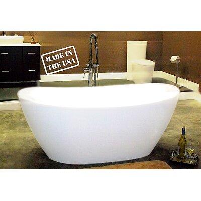 65 L x 34 W Pedestal  Bathtub
