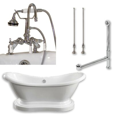 68 L x 29 W  Bathtub Finish: Polished Chrome