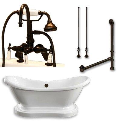 68 L x 29 W  Bathtub Finish: Oil Rubbed Bronze