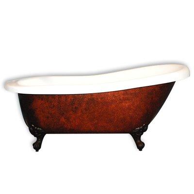 67 L x 28 W Freestanding Soaking Bathtub